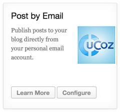 Ucoz Post by Email